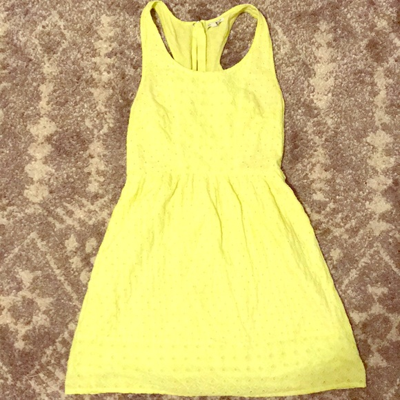American Eagle Outfitters Dresses & Skirts - Neon yellow dress w/ side cut outs